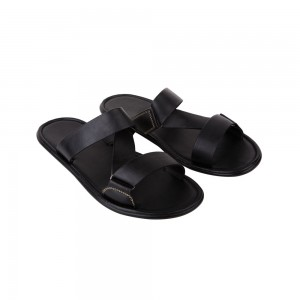 Faux Leather Slides