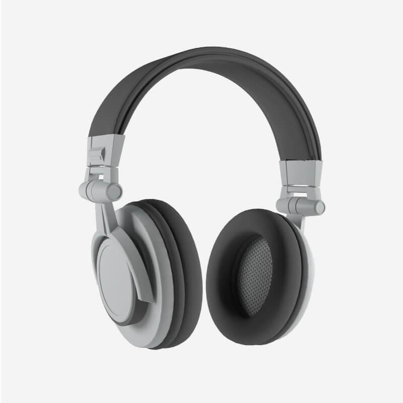 Black Grey Headset