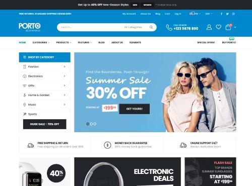 porto Multipurpose & WooCommerce Theme